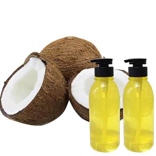 Virgin Coconut Massage Oil Sweet Basil EO -500ml Twin Pack